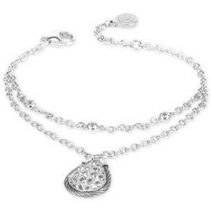 CHARRIOL White Topaz Double Row Bracele , Silver